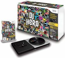 DJ HERO 1 Turntable w/ Video Game Bundle Set Kit Nintendo Wii/Wii-U guitar-hero