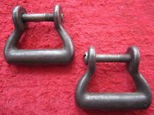 """2 Vintage Us Hames Co 1 1/4"""" Hame Bottom Loops, Horse Tack, Harness Hardware"""