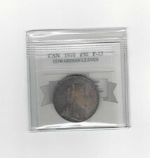 **1910 EL**, Coin Mart Graded Canadian Silver 50 Cent, **F-15**