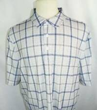 New Men's Cutter & Buck Navy/Gray/White Plaid Short Sleeve Polo Shirt L Nwt