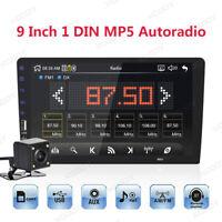 "Singolo 1 Din 9"" Autoradio Lettore MP5 Bluetooth USB Auto Mirror Link Telecamera"