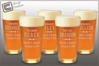 Groomsman Gift Engraved Personalized Beer Pint Glass, Wedding Bridesmaids