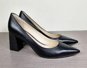 Marc Fisher LTD. Zala Pump, Black Leather, Womens Various Sizes