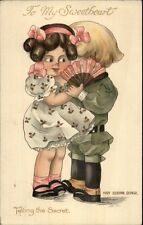 Cute Kids - Mary Eleanor George TELLING THE SECRET Ernest Nister Postcard PC