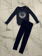 Justice Collection X size 10 cinched top and navy leggings size 10 outfit set