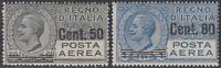 Italy Regno - 1927 Posta Aerea (Air Mail) n.8-9 cv 200$  MH* (n.9 Super centered