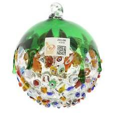 GlassOfVenice Murano Glass Venetian Mosaic Christmas Ornament - Green