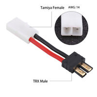 2pcs Female Tamiya to Male TRX Traxxas Adapter 14AWG 50mm Wire for RC Lipo