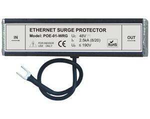 Ethernet RJ45 lightning surge arrestor protector full 8 pin POE-01 PoE support