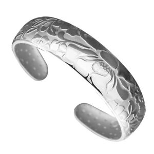 Lotus Open Bracelet Delicate Silver Plated Sturdy Jewelry for Ladies Girls