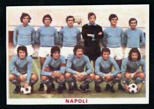 RARA FIGURINA CALCIATORI CALCIO SQUADRE BAGGIOLI ? 1976 NAPOLI