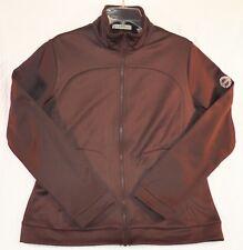 Tehama PGA Womens Ladies Size L Large Full Zip Polyester Fleece Jacket Brown