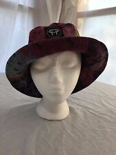 MUKA Headgear Company Bucket Hat Brimmed Cotton Cap Red, Coral, Navy OSFA NWOT!