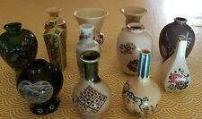 12 Vases miniatures japonais vintage porcelaine peints main collection 80's déco