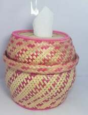 Natural bamboo Tissue boxes , woven with Thai wisdom