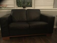 brown leather sofa 3 + 2 seater