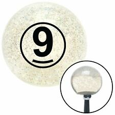 Black Ball #9 Clear Metal Flake Shift Knob with M16 x 1.5 Insert custom xtreme