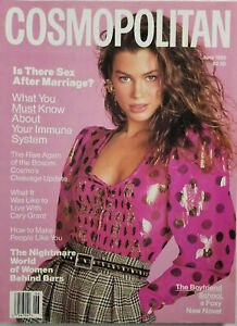 Cosmopolitan Vtg Fashion Magazine June 1989 - Carre Otis Cover - No Label - NM