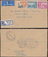 GOLD Coast Beulah Lane B.O CAPE COAST registered Airmail per GB 1956