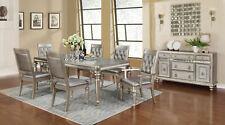 Coasters Furniture Hollywood Glam Asian Hardwood Metal 7 Piece Dining Room Set