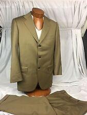 * Kiton Napoli * Custom Begrdorf Goodman Wool Suit Sage/Beige Size US/38R 48/EUC