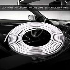 5M Car Auto Interior Styling Moulding Trim Strip DIY Decorative Line Silver Hot