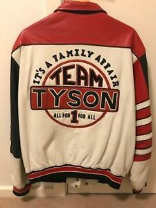 Team Tyson Jeff Hamilton Leather Jacket Gifted by Mike Tyson Ultra Rare Amazing