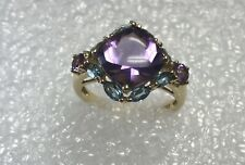 Amethyst and topaz ring - size 7- 3.8 grams