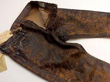 Denim Supply Ralph Lauren Men Vintage Rustic Waxed Coated Oilcloth Slim Jeans