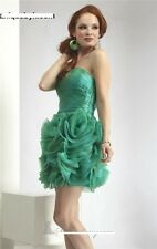 NWT $318 JANIQUE D266 prom Cocktail party social occasion GREEN ruffle dress  8