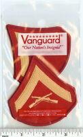 USMC Marines FEMALE Lance Corporal LCpl E3 Chevrons PATCH pr gld/red Dress Blues