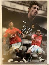 Signed Manchester United Autograph Montage Cristiano Ronaldo Anderon Nani