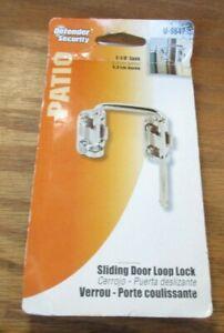 Defender Security U 9847 Patio Sliding Door Loop Lock Increase Home Security NIP