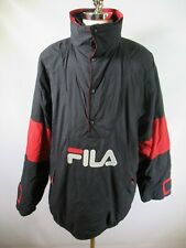E9240 VTG 90s FILA SPELL-OUT Retro Hip-Hop Pullover Parka Jacket Size 2XL