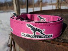 "New Canine Athletes Heavy Duty Hot Pink 1.5"" Nylon Working Dog Collar Pit Bull"