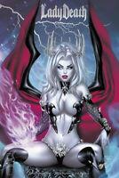 Lady Death Unholy Ruin #1 EBAS & Krome  SET of 2  Premium Foil    Comic Books