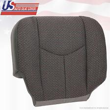 2006 2007 Chevy Silverado 2500 2500HD Passenger Bottom Cloth Seat Cover Dk-Gray