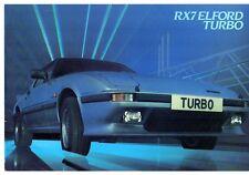 Mazda RX-7 Elford Turbo 1982-84 UK Market Foldout Sales Brochure