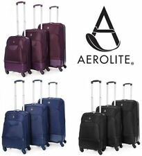 Spinner (4) Hybrid Suitcases with Extra Compartments