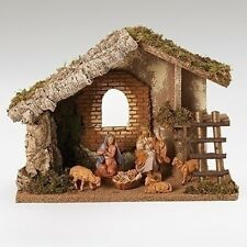 "Fontanini 5 Inch Scale ""HOLY FAMILY AND SHEEP WITH STABLE"" ~ Great Gift Idea"