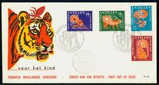 Mayfairstamps Netherlands Antilles 1967 Tiger Semi-Postals First Day Cover wwf98