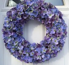 Cape Cod Blues Hydrangea Wreath Year Round Wreath For Everyday Decorating