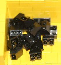 BRAND NEW LEGO BRICKS - 20 x BLACK 2x2 INVERTED SLOPE BRICK 45 3660 -