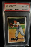 1951 Bowman - Neil Berry - #213 - PSA 8.5 - NM-MT+
