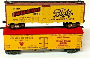 Lot of (2) Vintage Blatz, Monarch Brewing Co Old-Time Billboard Beer Reefers