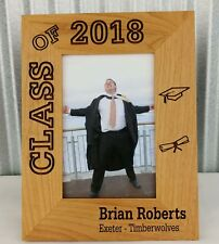 Personalized 4x6 Photo Frame, Graduation, Class of 2018, Custom Laser Engraved