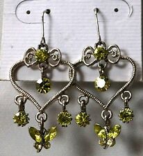 New Heart and Butterfly Chandelier Fashion Earrings