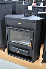 Wood Burning Stove Corner Model Solid Fuel Fireplace 12 kw Top Flue Prity AM