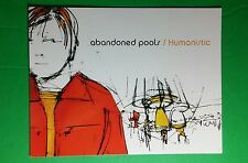 ABANDONED POOLS HUMANISTIC BLANK MUSIC FLYER 4.25X5.5 POSTCARD SM POSTER