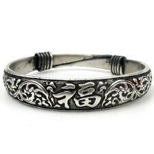 Fu Bangle Bracelet-Wrist Jewelry Tibet Silver Happy Lucky Word
